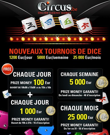 Circus.be Tournois de Dice