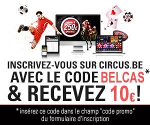 Circus.be Code Bonus