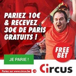 Parier sur le sport chez Circus.be